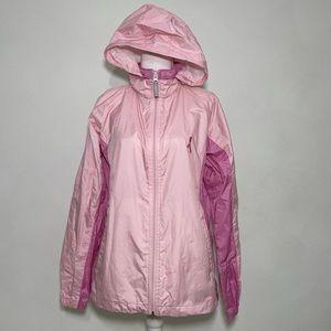Columbia Breast Cancer Pink Hooded Windbreaker M
